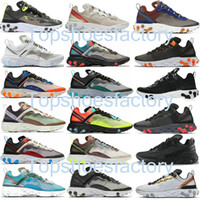 Air React Element 87 55 Undercover Running shoes men women Orange Peel Sail triple black white Taped Seams trainers sports sneakers