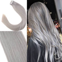 Tape In Human Hair Extensions Skin Weft Tape Hair Extensions...