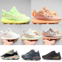 v2 2019 Nouveau Designer Bébé Kanye West V2 Enfants Sports racing Chaussures statique Garçons Filles Enfants Maille outdoor Mode Marche Baskets
