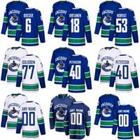 Elias Pettersson Vancouver Canucks Jerseys Bo Horvat Brock Boeser Antoine Roussel Alexander Edler Jake Virtanen Roussel Jersey