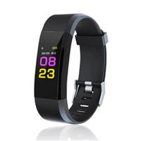Écran LCD Couleur ID115 Plus Bracelet Intelligent Bracelet de Suivi de La Pédomètre Montre de Mesure De La Fréquence Cardiaque Moniteur de Pression Artérielle Moniteur Intelligent Bracelet pk fitbit