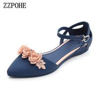 Zzpohe Yaz Moda Sandalet Kadın Yumuşak Büyük Boy Çevirme Sandalet Rahat Rahat kadın Sandalet Y190704