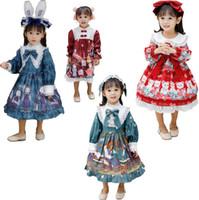 여자 달콤한 로리타 드레스 공주 카운트 새로운 패션 법원 볼 스커트 코스프레 로리타 드레스 달콤한 소녀 가와이이 의상 모자와 드레스