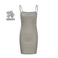 2019 매달려 인쇄 드레스 섹시한 백 레이스 쉬폰 쉬폰 비치 스커트 여성 의류 캐주얼 여자 드레스 도매 Splicing 도매 높은 허리 8050