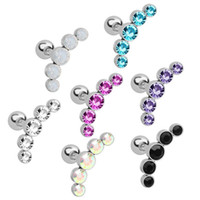 Wholesale Stainless Steel Ear Piercing Stud Colorful Anti Al...