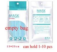 Freeshipping 1000pcs 13 * 25 cm 15 * 21cm Zipper Plastic Sac d'emballage de détail OPP pour masque de visage jetable 3 Masque de couches Sac de paquet