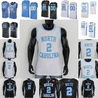 NCAA North Carolina Tar Heels كرة السلة جيرسي كول أنتوني حامية بروكس كوبي أبيض متسرب أسود أرماندو باتل فرانسيس 50 هانسبره