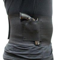 Тактическая тонкая обертка скрытая носилка Belly Band Pistol Holster Band Gun Cobster 30-37 дюйма