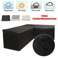 L Forme Sofa Slipcover Piano Canapé Couch Covers pour Waterproof Salon extérieur antipoussière Meubles de jardin