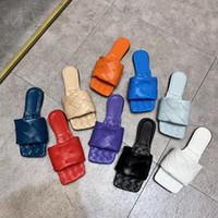 Sexy Flachrutschen Lido Sandalen Woven Frauen Pantoffeln Quadrat Maultiere Schuhe Damen Hochzeit Absatzschuhe Kleid-Schuhe 10 Farbe Hohe Qualität