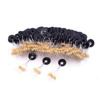 6Pcs Gelb / Schwarz Set Hohe Qualität Gummiraum Bohnen für Sea Karpfen Fliegenfischen Zubehör Spinner Köderfisch von Sport Gesicht