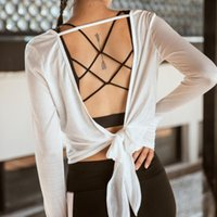 BINAND Sexy Yoga Shirt Women Backless Sports Crop Top Thumb ...