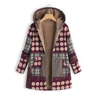 Estampado de algodón y lino de la chaqueta de la mujer de explosión 2019 más ropa acolchada de algodón acolchada de terciopelo