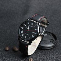 CHRONOS Brand Business Watch Genuine Leather Men's Watch Auto Date Watches Male Clock Life Waterproof reloj hombre 2019 Gift