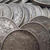 US Full Set Morgan Dollar 1878-1921 96 STÜCKE Verschiedene Datum Kopie Münzen Metall Craft-Kategorie Fertigung Fabrikpreis