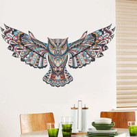 Wandaufkleber Große Owl Removable Mode-Kunst Vinyl Aufkleber Tapete Thema Cartoon Mural Kinder Schlafzimmer Livinig Room Home Decor