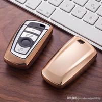 TPU مفتاح السيارة حالة تغطية حامل محافظ مجموعة الجلد لBMW E30 E36 E90 E60 E84 E36 E53 E63 E90 F10 F30 X1 X3 X4 فوب حامي البعيد