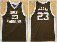 Michael MJ Nr. 23 North Carolina Tar Heels College 1982 Retro Basketball Jersey Mens Nähten benutzerdefinierte Neinenname Jerseys