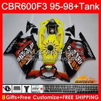 Body + Serbatoio per Honda CBR 600F3 600cc CBR600 F3 95 96 97 98 41HC.42 CBR 600 FS F3 CBR600FS CBR600F3 1995 1996 1997 Hot Repsol 1998 carenatura