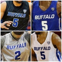 NCAA 2020 Buffalo Bulls Custom Any Name Number Stitched 2 Jeremy Harris 1 Montell McRae Antwain Johnson Blue Gray Black White College Jersey