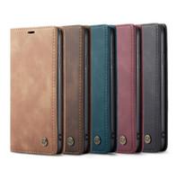 삼성 갤럭시 S10 S20 마그네틱 용 iPhone 12 11 Pro Max Mini 8 Plus 용 CaseMe Leather Case