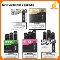 100 % 원래 VGOD STIG 일회용 퍼프 바 일회용에게 대 포드 10Colors 장치 3PCS 팩 270mAh 배터리 1.2 ㎖ 카트리지 Vape 펜 키트를 비 웁니다