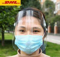 US STOCK, máscara transparente de protecção protecção facial ajuste mascherine completo para adultos chuvoso criança andando de cobertura face Enviar máscara facial livre