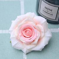 9 cm 12 colores cabezas de flores artificiales rosa para bricolaje supermercado fondo camino led boda seda decorativa flor ramo de flores