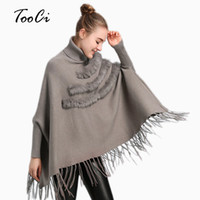 Spring New Female Gray fur Poncho Pullover Lady Fashion Loos...