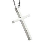 Mode homme ou femme bijoux collier en acier inoxydable polissage brillant avec croix mignon 45cm hommes chaîne collier ne se fanent jamais ou changer de couleur