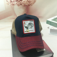 Moda-Mesh Beyzbol Horoz Nakış Şapka Erkekler Snapback Kemikler Moda Streetwear Horoz Trucker Cap Kadınlar Caps