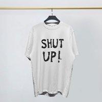 Fransa Sokak Tide Marka Erkek Tasarımcı tişört Vetements VTM Witt Meng SHUT YUKARI Harf Baskılı Kadınlar Tişörtlü Avrupa ve Amerika Kısa kollu