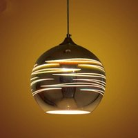 LED Pendant Lights Mirror Glass Ball Planet Sitellite Pendan...