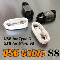 A + Качество 1м 3FT зарядки USB зарядное устройство синхронизации данных кабель Кабель типа C Micro V8 Type-C для Galaxy S8 S9 S9 + Plus S10 Примечание 8 9 Adnrod телефоны MQ