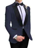 Conversement des hommes Blazers Tpsaade Arrivée 2 Pièces Hommes Fashion Prom Tuxedos Blazer Slim Fit Dîner Jacket Grooms pour mariage (blazer + pantalon + cravate)