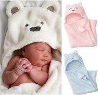Manta linda animal del baño del bebé baño del bebé de la toalla de baño / niños Terry Niños infantil de baño / bebé del traje EEA1329