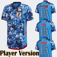 Versión del jugador Japón 20 21 Jersey de fútbol Capitán de dibujos animados Tsubasa Número Número Atom Hogar Japonés Camisa de fútbol modificado para requisitos particulares Maillot Tops