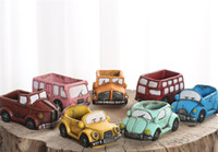 Retro Creative Car Flower Pot Mini Garden Planters Garden Pl...