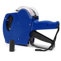 MX-5500 EOS 8 dígitos Etiqueta de precio con los armas etiquetas 5000pcs y 1Pcs tinta roja y azul Máquina etiquetadora postor aleatoria