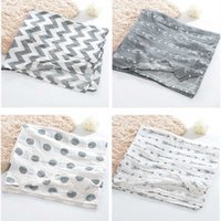 Cobertores de 100% Muslin Algodão Padrões Geométricos Multi-Uso Nascido Swaddle Gaze Infantil Ambos Toalha Baby Warp 100 * 100cm