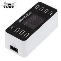 US EU UK AU 5V 8A 40W 8USB Ładowarka Adapter Rodzaj-C Ładowarka ścienna Type-C USB Adapter Universal Adapter szybkie ładowanie z inteligentnym wyświetlaczem LED