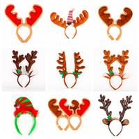 Cartoon di Natale Antlers HairBands flanella fascia con il Natale Decor campana delle ragazze dei capretti Capelli Fibbia partito puntelli cappelli FFA3007