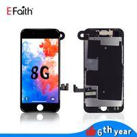 LCD Ekran Tam Montaj iphone 8 8G 4.7 inç Digitizer Çerçeve Çerçeve Ile Dokunmatik Paneller + Ön Kamera Ücretsiz DHL