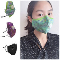 Fashionable Glittery Mouth Cover With Breath Valve Anti Poll...