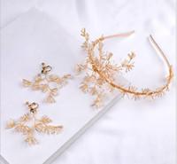 Bridal Crystal Flower Headband Hair Strap Hand-knitted Headdress Bridal Jewelry Accessories