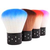 Ferramenta de escova de poeira de limpeza macia Pedicure Nail Art Care ferramentas kits para gel uv polonês 6 cores