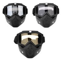 Detachable Modular Motorcycle Motorbike Riding Helmet Mouth ...