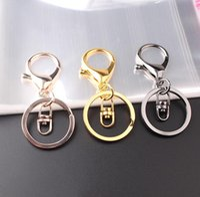 llavero de metal Epackfree anillo partido clave con la cadena de Split Llavero con la cadena de la plata del oro del metal del color de Split Guqing Llavero LXL791Q