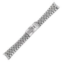 20mm 316l sólido de reemplazo de acero inoxidable reloj de reloj de reloj de reloj de reloj de banda de banda pulsera jubileo con cierre de ostras para maestro II