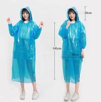 Yağmurluklar Tek Çocuk Hood Panço Temizle Yetişkin Acil Rainwear Seyahat Kamp Yağmur Coat One Time Yağmur Dişli 5 Renkler 10pcs DW5251